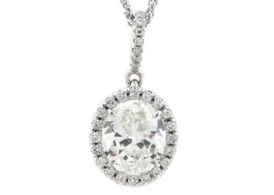 Halo  Pendant Collection (oval cut)
