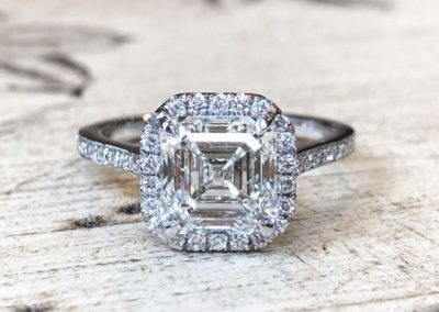 Halo & Milgrain Collection [asscher cut]