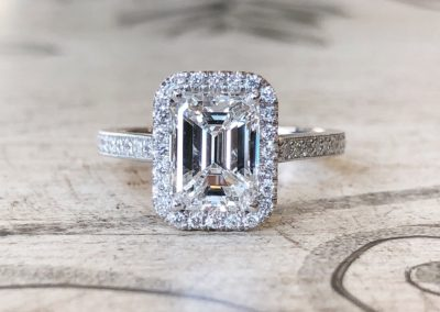 Halo & Milgrain Collection [emerald cut]